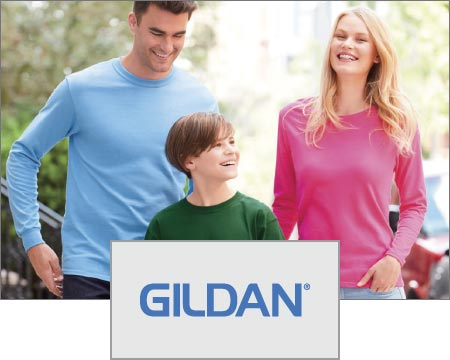 Custom Logo Imprinted Gildan T-Shirts Apparel